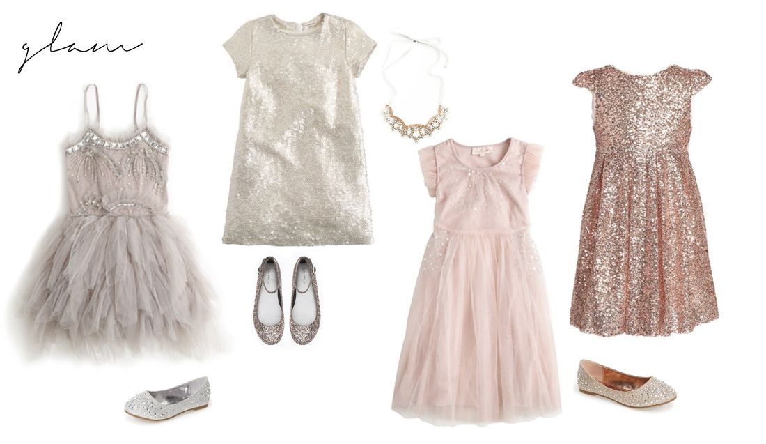 Glam Wardrobe Style for Little Girls Portraits for the 2015 Holiday Season