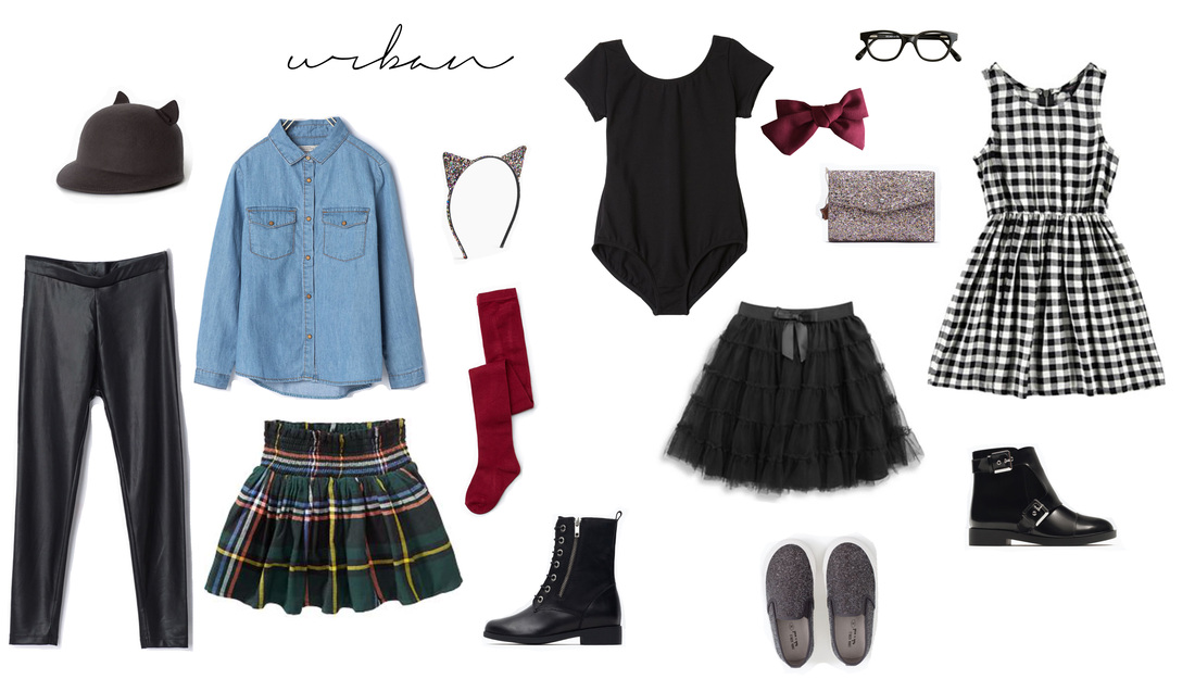 Urban Wardrobe Style for Little Girls Portraits for the 2015 Holiday Season